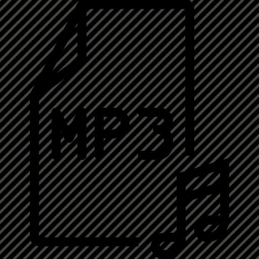 audio, file, mp3 icon