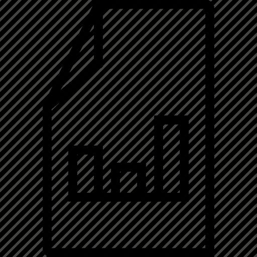 chart, diagram, file, graphic icon