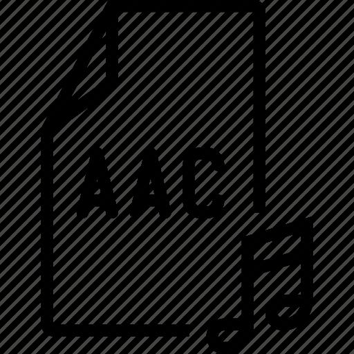 aac, audio, file icon