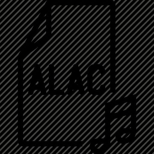 alac, audio, file icon