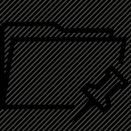 folder, folders, pin icon
