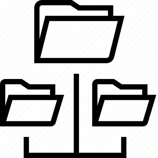 folder, folders, network icon