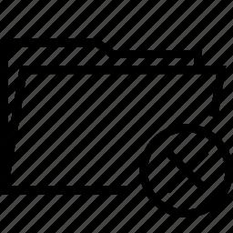delete, folder, remove icon