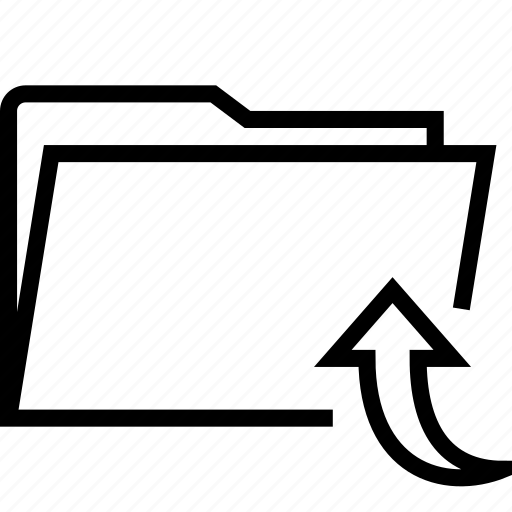 arrow, folder, up icon