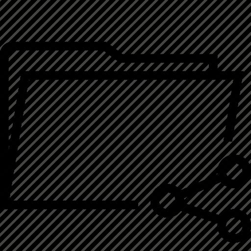 folder, group, public, share, social, team icon