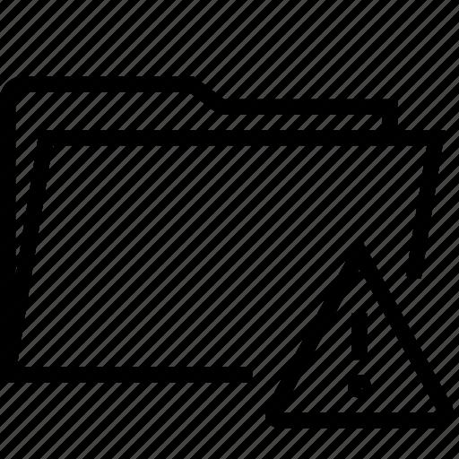 alert, attention, folder icon