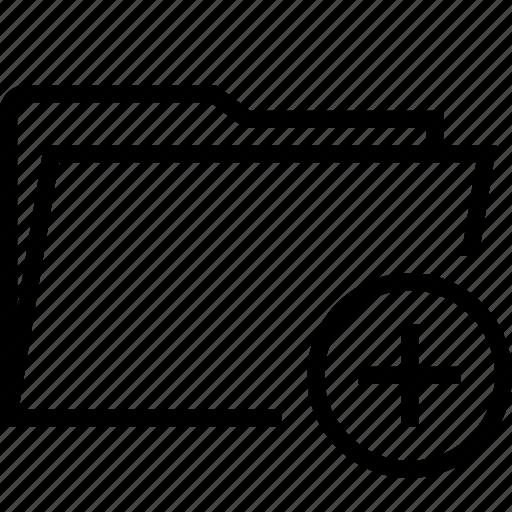 add, create, folder, new, plus icon