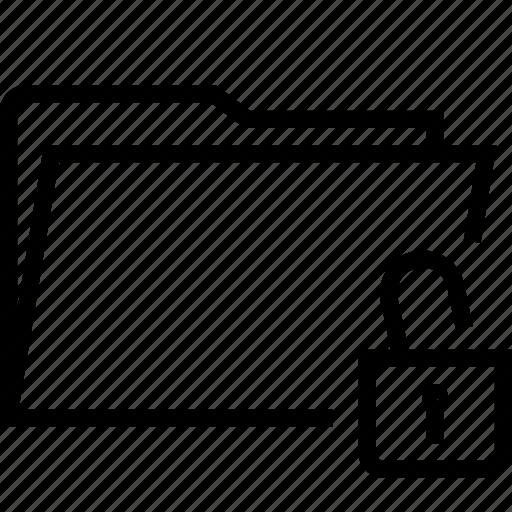 folder, unblock, unlock icon