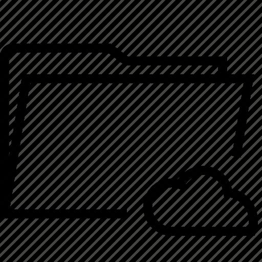 cloud, connected, folder, public icon