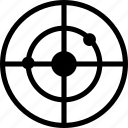 aim, bulls eye, mission, target icon