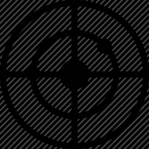 aim, bulls eye, mission, target icon