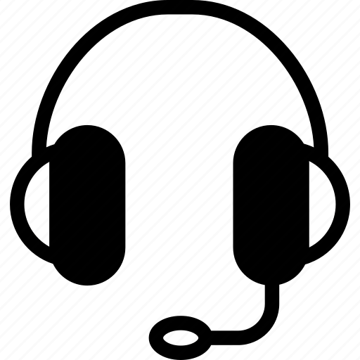 call, center, customer, headphone, microphone, support icon