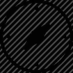 compus, direction icon