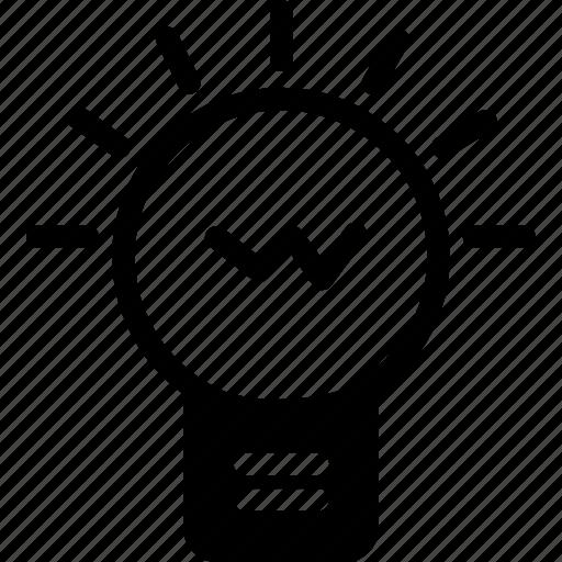 bulb, creative, idea, light, working icon