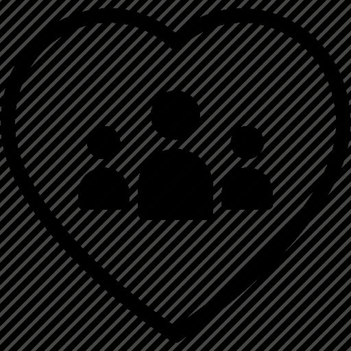 fevourite, heart, people, team, work icon