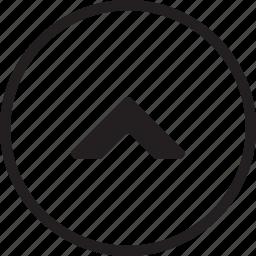arrow, audio, direction, multimedia, up, video icon