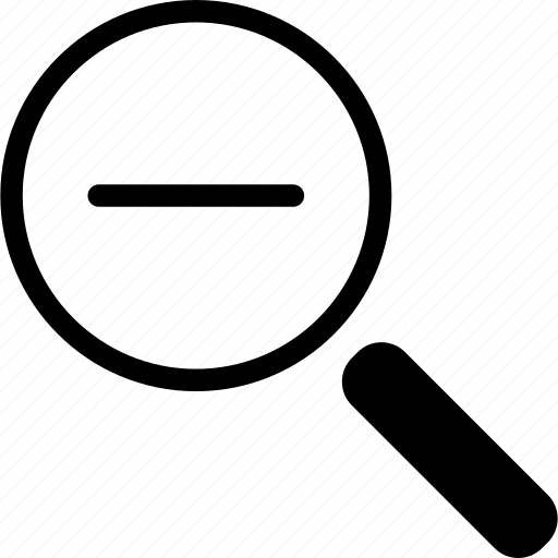 magnifying, out, search, zoom icon
