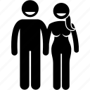 adam, couple, eve, human icon