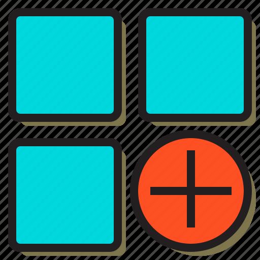 add, application, file, internet, mobile, online, window icon