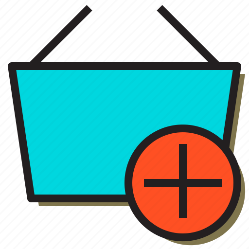 add, basket, business, create, online, store, user icon