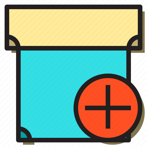 add, box, create, document, file, office, text icon