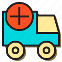 add, car, holiday, service, tourism, travel, truck icon
