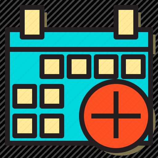 add, carlender, communication, document, interface, internet, plus icon