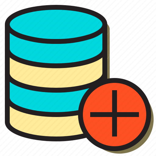 add, create, database, document, file, server, text icon