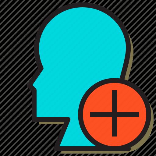 add, avatar, create, file, files, head, text icon