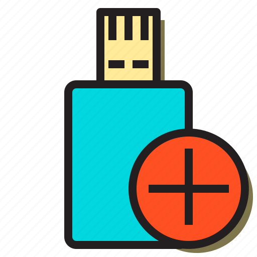 add, drive, thumb, to, usb, user, woman icon