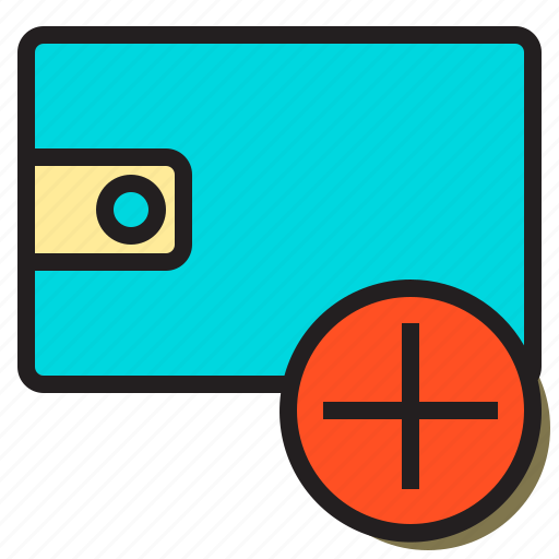 add, communication, finance, interface, man, user, wallet icon