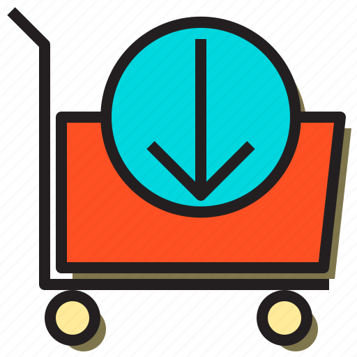 cart, cloud, download, file, internet, online, storage icon