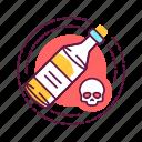 addiction, alcohol, bad, habit, skull icon