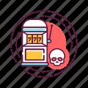 addiction, bad, habit, machine, skull, slot icon