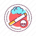addiction, bad, cigarette, habit, skull, smoking icon