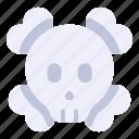 bone, danger, death, poison, skull, toxic
