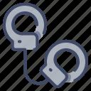 arrest, crime, criminal, handcuff, officer, police icon