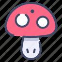 addiction, fungus, mushroom, toadstool, vegetable icon
