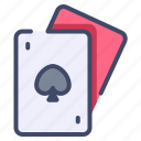 play, ace, casino, poker, gamble, card, solitaire icon