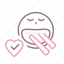 chalk, eating, food, heart icon