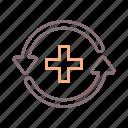 relapse, healthcare, health, prevention icon