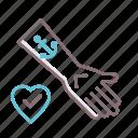 love, tattoo, addiction, anchor