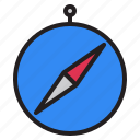 compass, drawing, location, navigate, pointer, shape, tool icon