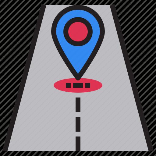 arrows, gps, navigation, position, road, sign, transportation icon