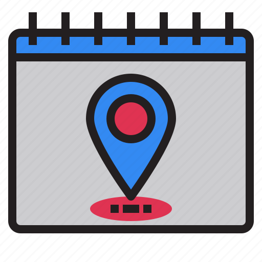 calender, country, day, love, map, plan, position icon