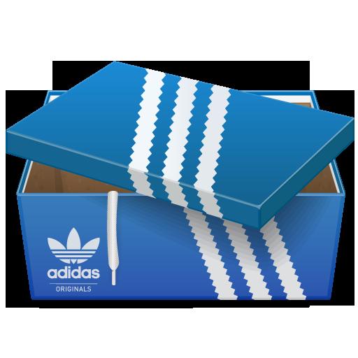 adidas, box, shoe icon