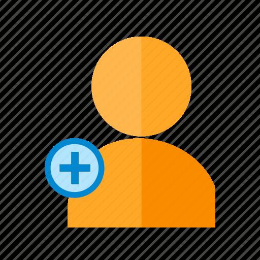 account, add, create, member, membership, profile, user icon