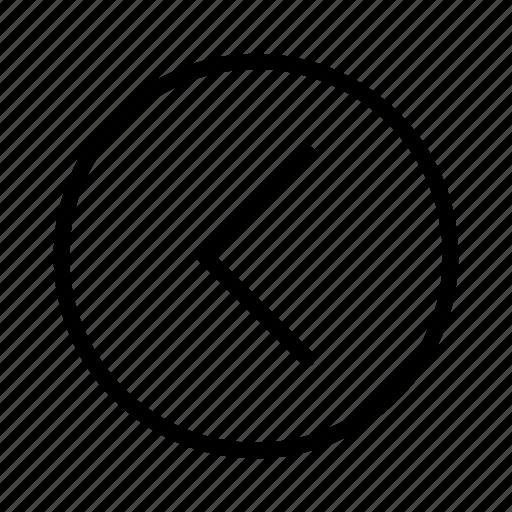 arrow, arrow left, direction, left, move left, previous, slide left icon