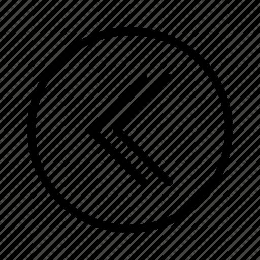 arrow, arrow left, double arrow, left, move left, previous, slide left icon