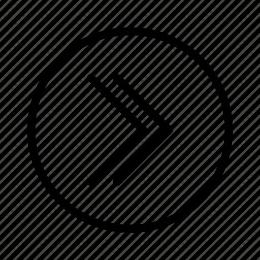 arrow, arrow right, double arrow, move right, next, right, slide right icon